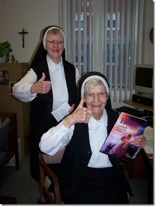 thumbs up nuns