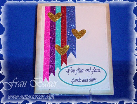 Glitter Gleam Sparkle Shine Card
