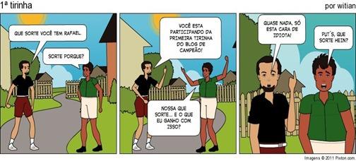 A 1ª agente nunca esquece - Tirinhas Blog de CAMPEÃO - WiTiaNblog