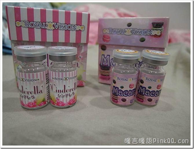 日本ROYAL VISION隱形眼鏡 CI-306 Cinderella粉紅+MO-304 Macaron咖