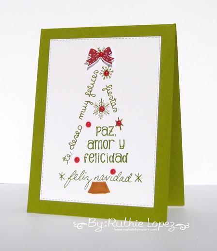 Color Paws - Tarjeta de navidad - Ruthie Lopez