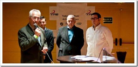 La Federación de Pádel de las Islas Baleares presentada oficialmente en Palma Mallorca.