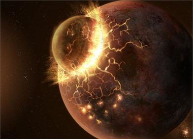 impacto de uma exolua com um exoplaneta