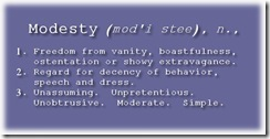 possible definitions of modesty