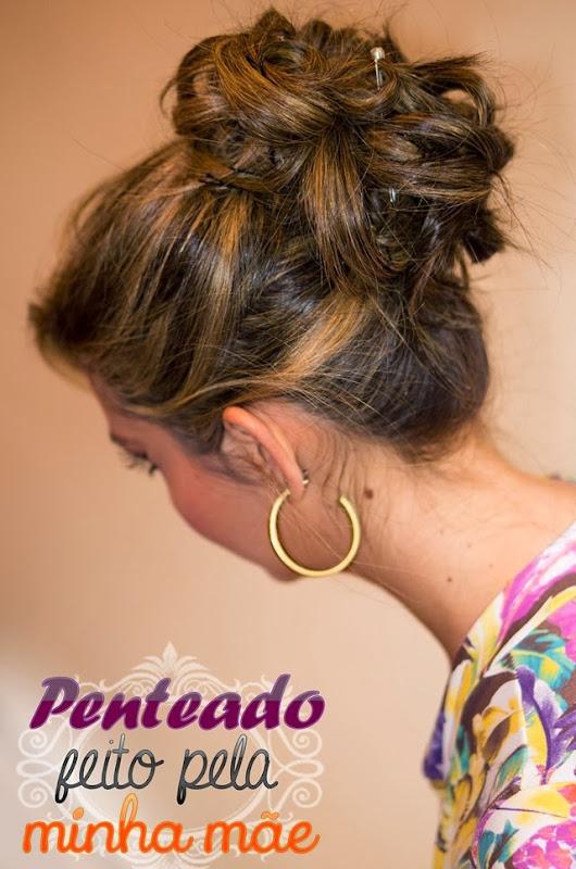 penteado coque despojado