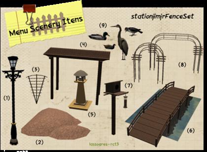 stationjimjrFenceSet - Scenery Itens (stationjimjr) lassoares-rct3