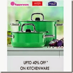 Buy Kitchenware upto 60% off + 40% Casback on Rs. 499