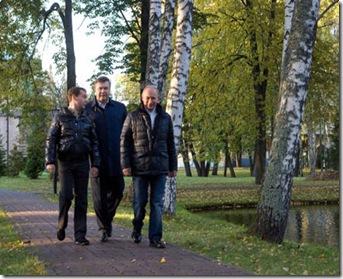Putin, Medvedev och Janukovich