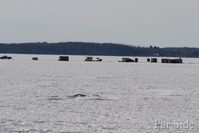 Shell Lake Ice Houses