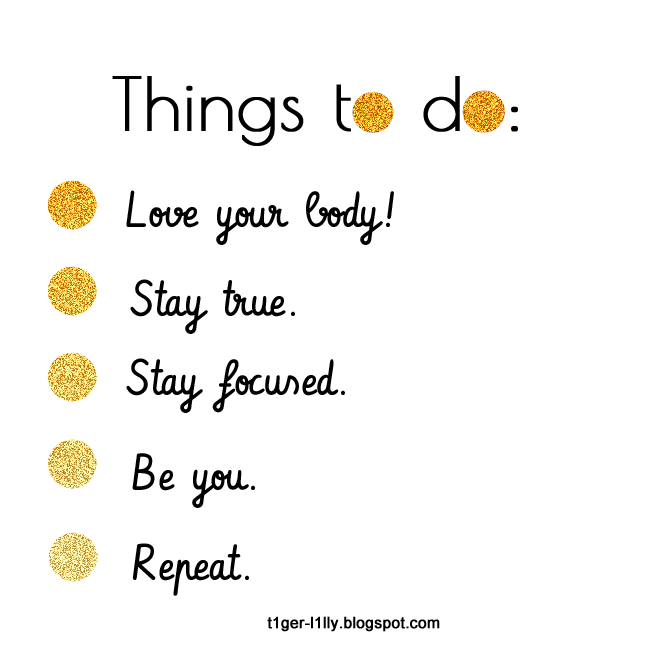 Self Love To Do List