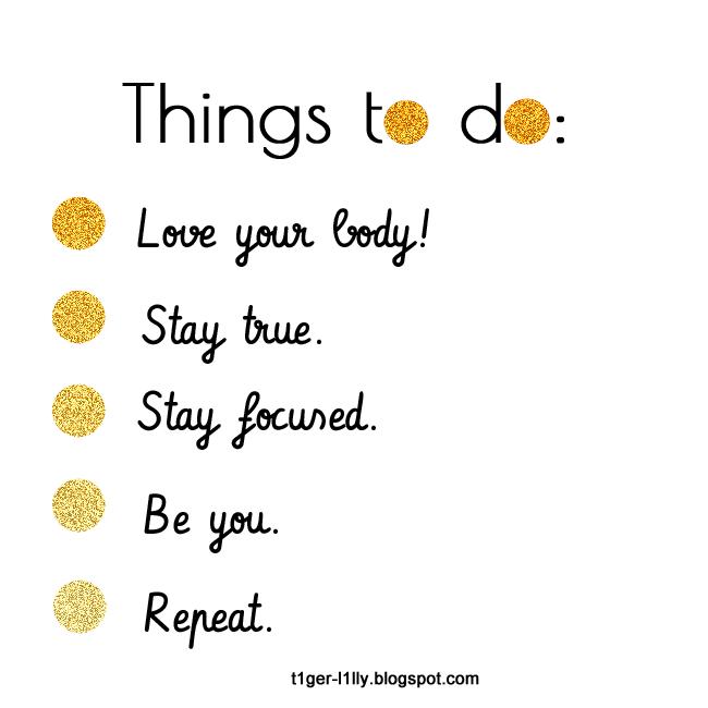 Self Love To Do List