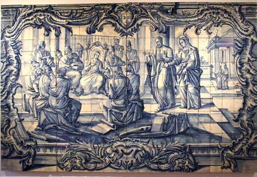 Portugal - museu do azulejo - jesus entre doutores - Glória Ishizaka