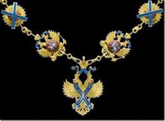 Collar y veneras esmaltados de la Orden de San Andres