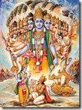[Krishna showing the universal form]