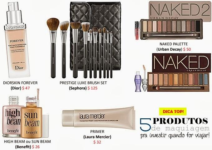 maquiagens para comprar duty free