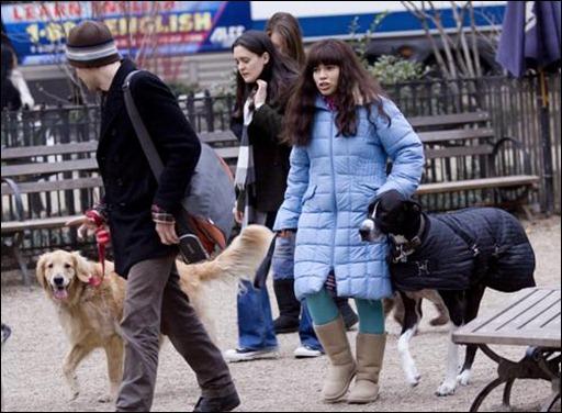 America Ferrera and her 2 dogs