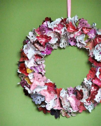 ghirlanda fiori di carta