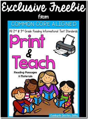 Exclusive Freebie Print & Teach CREEKSIDE TEACHER TALES