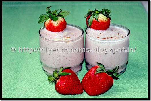 Strawberry Dates Oats Shake - IMG_1470