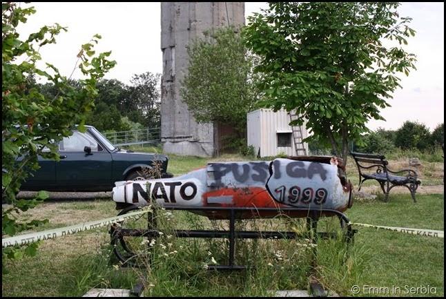 NATO missile, Hotel Norcev, Fruška Gora