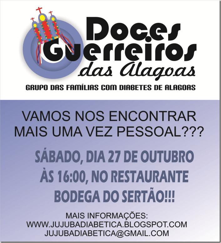 CONVITE DOCES GUERREIRO 27 DE OUTUBRO