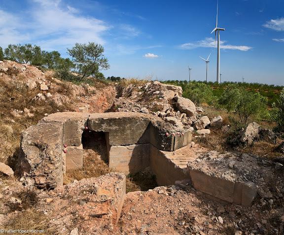 Línia fortificada de la Fatarella.Batalla de l'Ebre, Guerra Civil Espanyola.Espais recuperats per l'associació Lo Riu.La Fatarella, Terra Alta, Tarragona