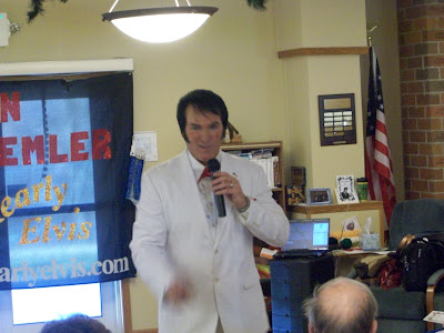 Ron Selmer as Elvis performing at Lending Hands