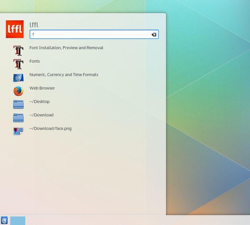 KDE Plasma Next - Ricerca in Kickoff