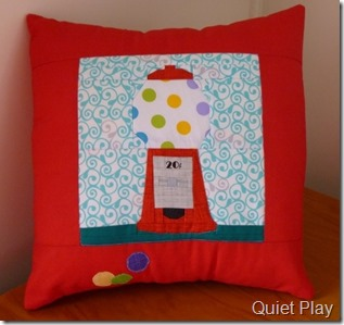 Gumball machine cushion cover