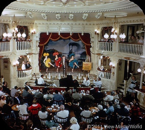 View-Master Frontierland (A176), Scene 3-6: Golden Horseshoe Saloon