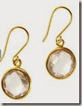 Rose Quartz and Gold Drop Earrings