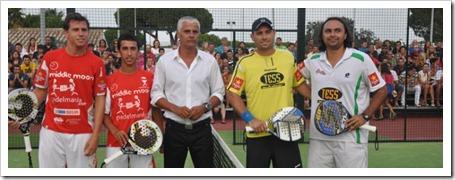 Jordi Muñoz y Gonzalo Díaz Campeones de los XVIII Internacionales España 2011 en Chiclana.