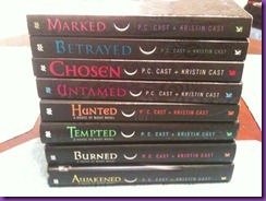 8 books from the House of Night Series
