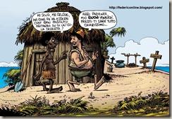 Robinson Crusoe e Venerdì - il buon selvaggio