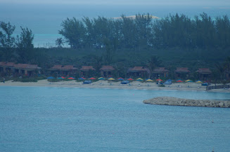 A view of the Cabanas early in the morning.