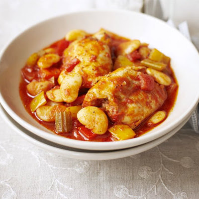 Chicken, Butter Bean & Pepper Stew