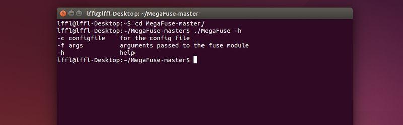 MegaFuse in Ubuntu 14.04