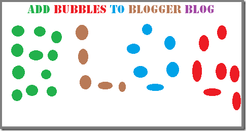 add bubbles to blogger