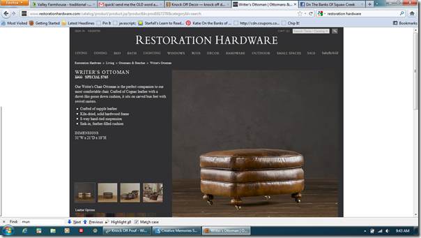 restoration hardware ottoman