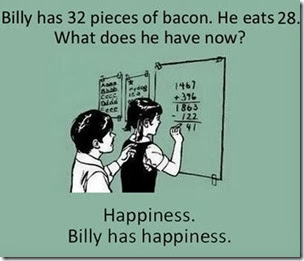 happiness and bacon