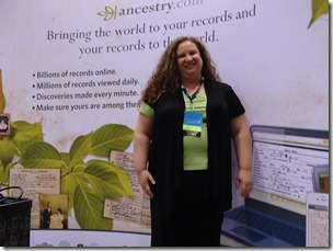 Ancestry.com's Crista Cowan answered questions at the NGS conference