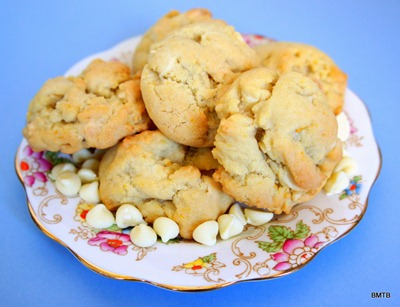 Orange and White Choc biscuits