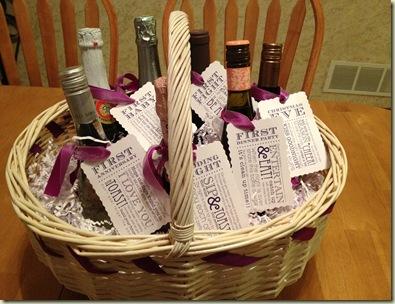bridal shower wine basket