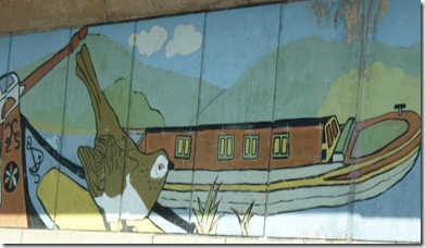 mural at horniglow toms moorings