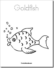 Preschool Alphabet: Goldfish