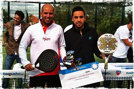 Pablo González Neria y Óscar Morales Sousa campeones en el I Open de Pádel Cuidatemucho en Cubas de la Sabra, FMP.