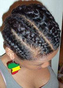 Retaining Moisture at Night with Cornrows and Twists
