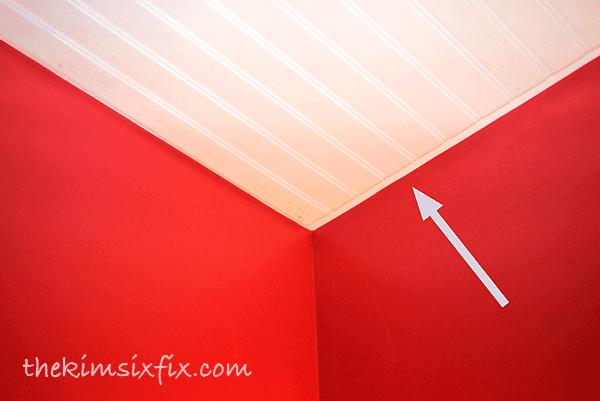 Beadboard on ceiling