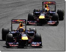 Webber e Vettel nel gran premio del Brasile 2011