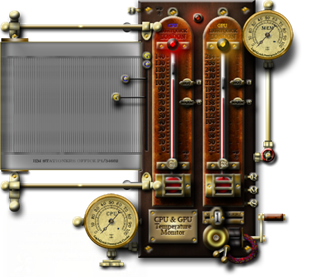 Steampunk CPU & GPU Temperature Thermometer